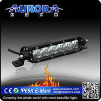 AURORA 6inch off road single row led light 4 wheel motorcycle