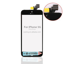 12 month warranty! Original mobile phone LCD display +touch screen digitizer for iPhone 5 paypal accepted