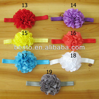 CF0790 vintage cute colorful big puff eyelet fabric shabby flower baby headband