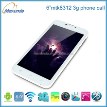Android 4.2 MTK8312 dual core dual sim 6-inch smallest tablet pc