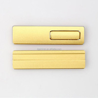 Blank metal reusable gold name plate name badge magnet pin
