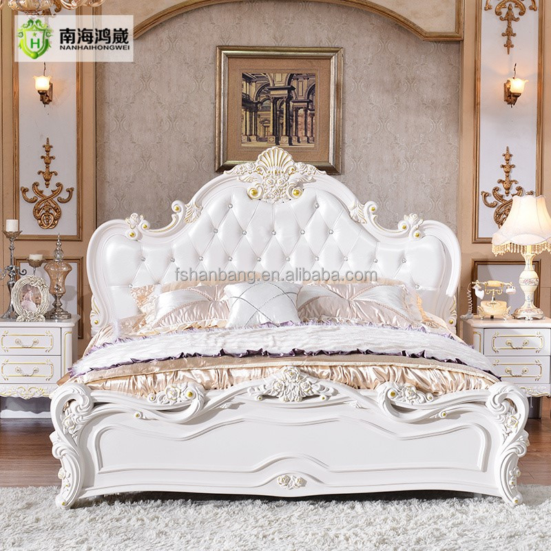 Classical European Style furniture set Queen Size <strong>Bed</strong> Designs King Size <strong>Bed</strong> For Sale