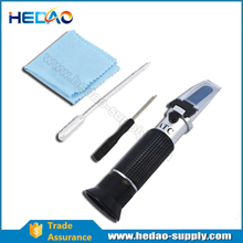 New Portable Refractometer for Grape Wine Alcohol 0-25%Vol , 0-40%Brix,0-22Baume with ATC