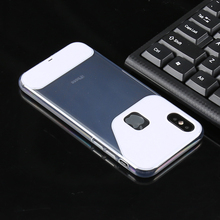 crystal clear PC+TPU Hybrid cell phone case pouch cover for Apple iphone X