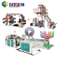 100% Biodegradable Corn Starch Bag film making machine in plastic extruders Plastic film blowing machine