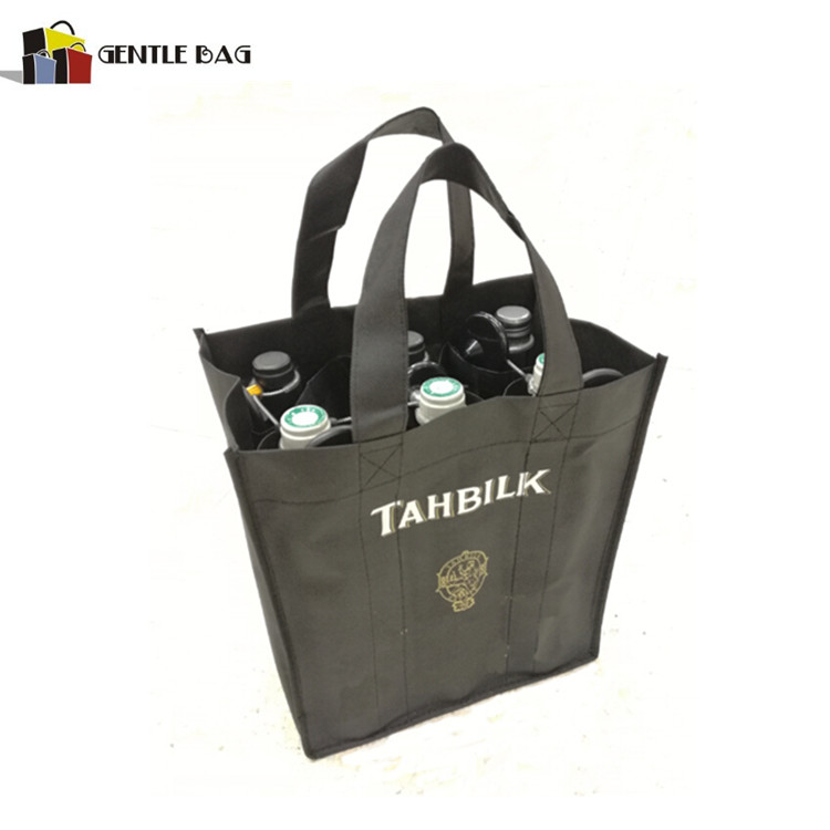 Handled Style and Nonwoven Fabric,Non-woven Material 4 bottles non woven wine bag