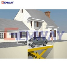 5t capacity 1.8m height underground garage lift for car parking