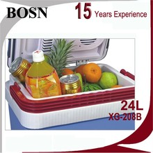 Hot selling most competitive price car BOSN can desktop fruit and vegetable display cooler cooler box