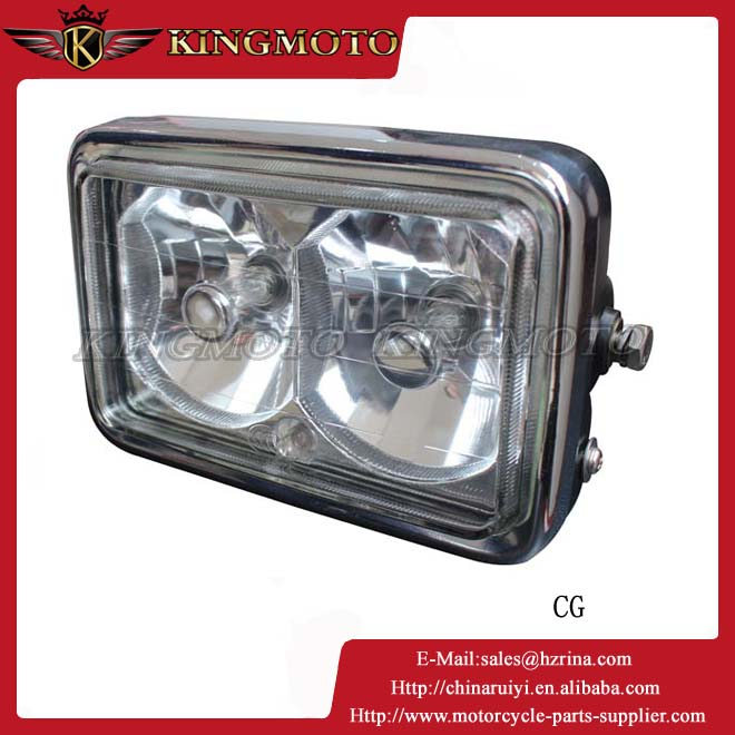 Factory wholesale auto high low 3/4 sides chips h4,h6,h7 /led motorcycle headlight for CG125