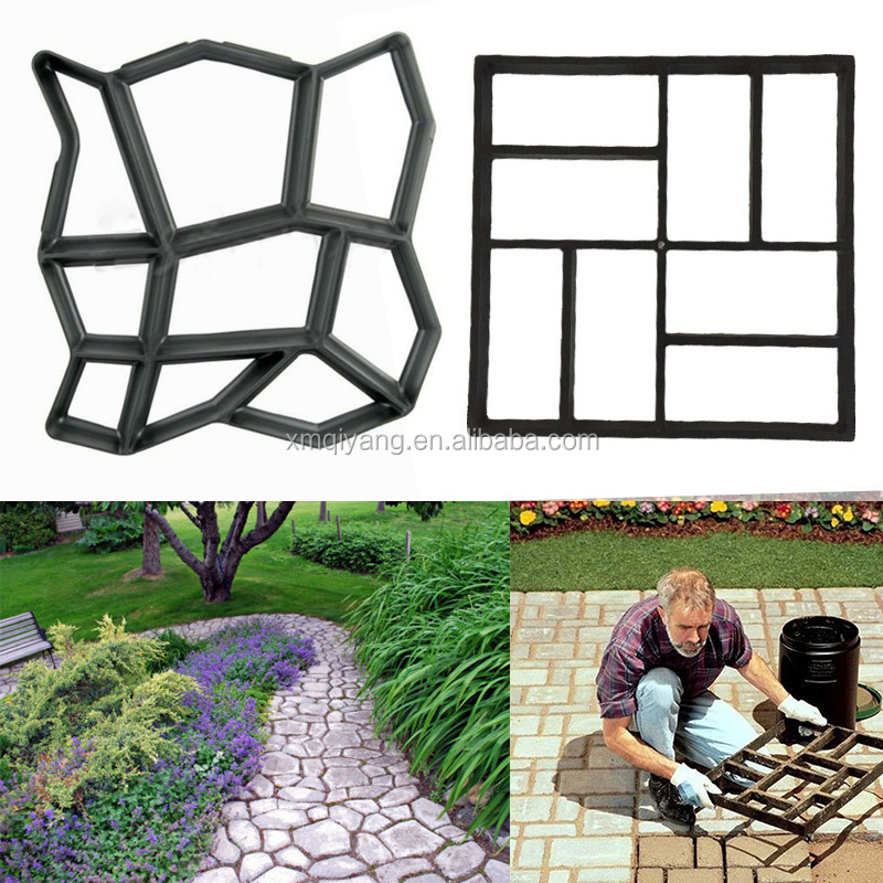 Garden tools pathmate plastic mold for concrete DIY stepping stone