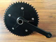 2-pcs alloy crankset with 24mm crmo spindle