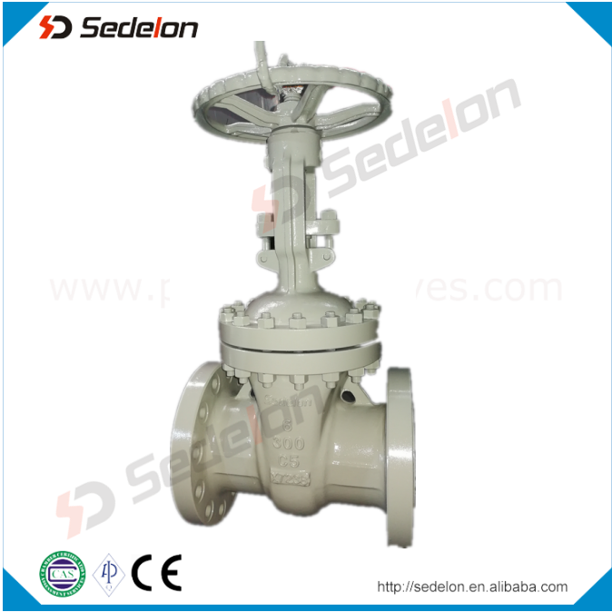 "API 600 Gear Operated Flanged Type WCB C5 Carbon Steel 5"" Inch Gate Valve"