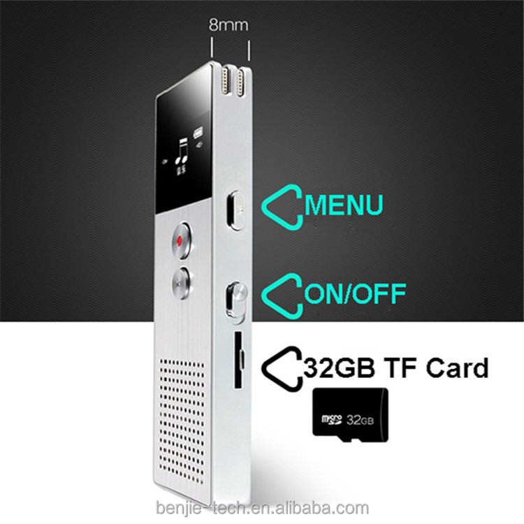 New model metal digital audio recorder support TF card
