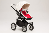 new design Luxury Baby Strollers Child Pram Four Wheels leather PU fabric With EN1888