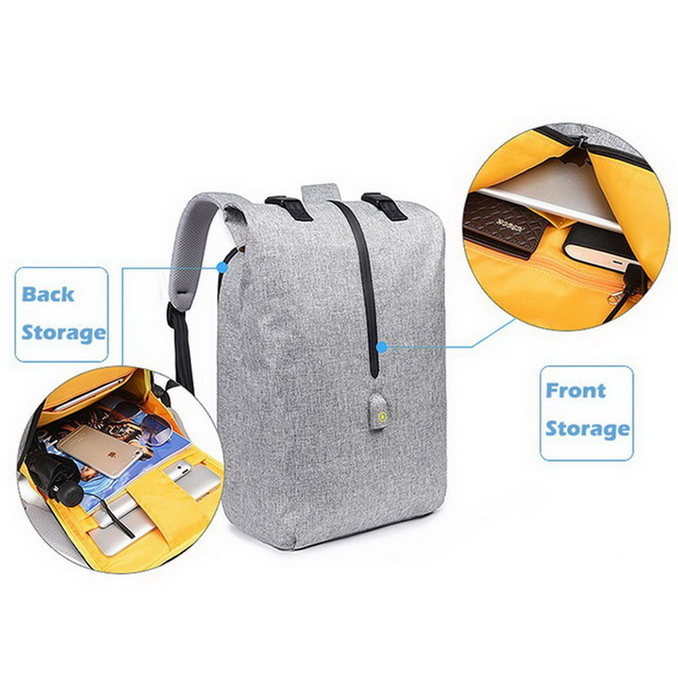 Anti theft leisure notebook computer laptop school backpack with usb charging port