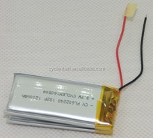 Gel battery 3.7V 1200mah battery pack 3.7V 1200mah li-ion battery