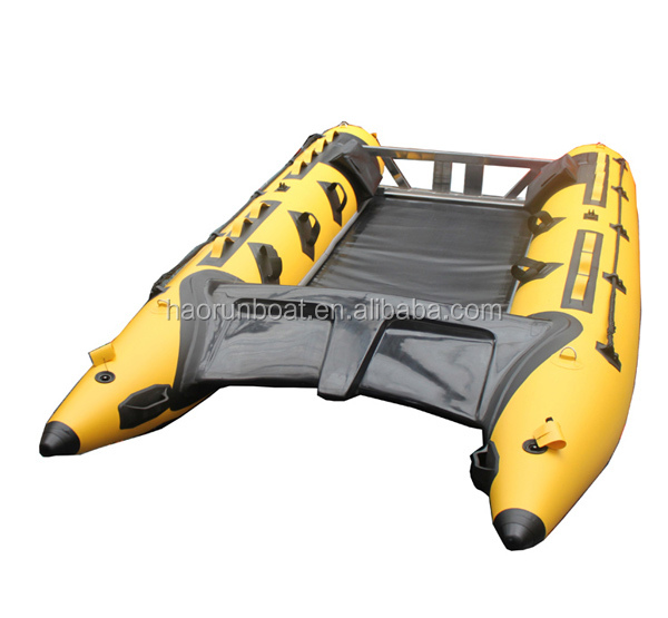 hot!!!!(CE) inflatable catamaran with aluminum floor high speed boat