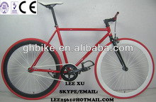 700C USA red parts CE approved Fixed gear bike bicycle