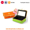 Fashion Lady Cosmetic Bag With Mirror Makeup Storage Case ,Accessory Organizer Storage Bag
