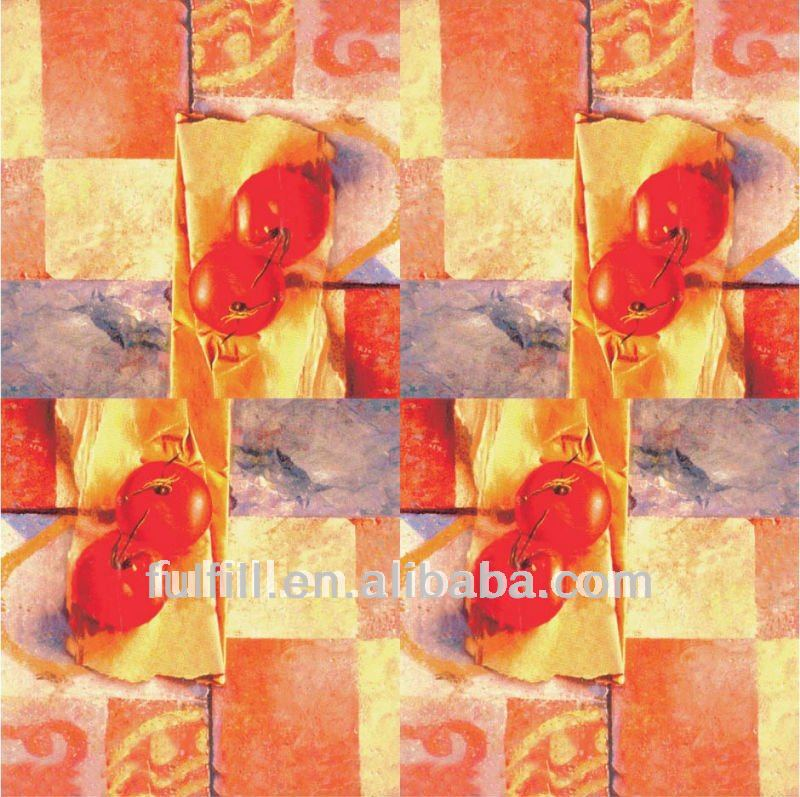 Yiwu factory Custom client's design like 1/3ply Cherry picture printed napkin decoupage paper