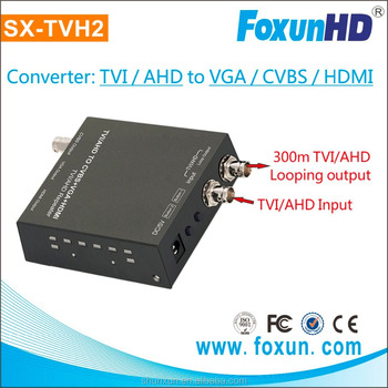 FOXUN TVI to HDMI Converter and repeater for famous brand customer with looping TVI/AHD output TVI to HDMI converter
