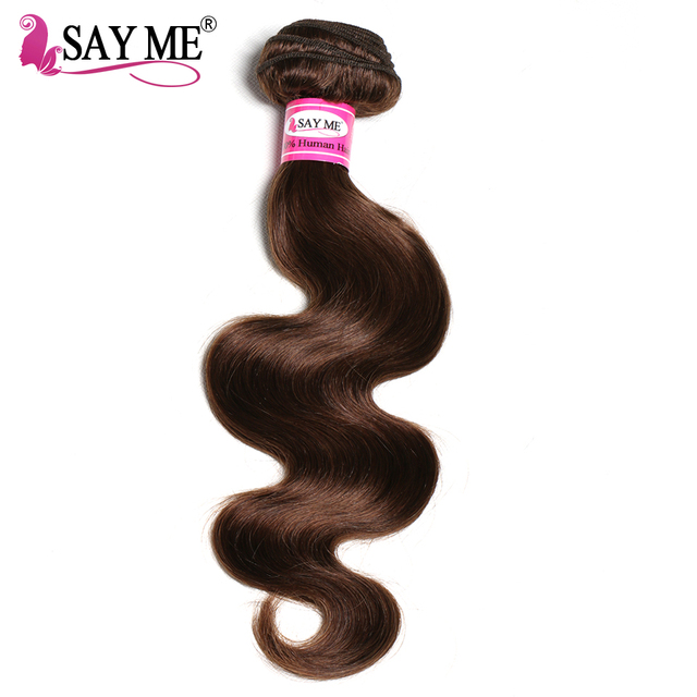 Light Brown Wet And Wavy Peruvian Hair Extensions 22 24 26 Inch Body Wave Peruvian Hair Weave Color 4#
