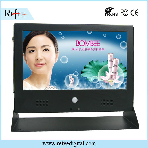 10 inch metal advertising displayer network digital signage media player