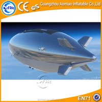 Silver color inflatable balloon helium blimp helium balloon/inflatable zeppelin helium balloon