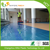 Low Price Surface Protection Plastic Floor Covering For Painting