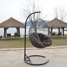2016 cheap price new design poly rattan wicker swing hanging egg chair