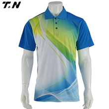 Sublimation printing golf shirt golf polo shirt
