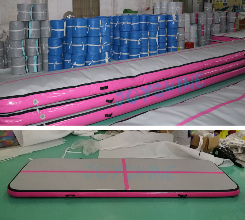 Pink and Black Airtrack 5m Inflatable Gymnastics Cheerleading Equipment Tumbling Air Track Trampoline Mat Landing Gym Matt