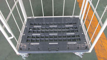 4 sides wire mesh roll container
