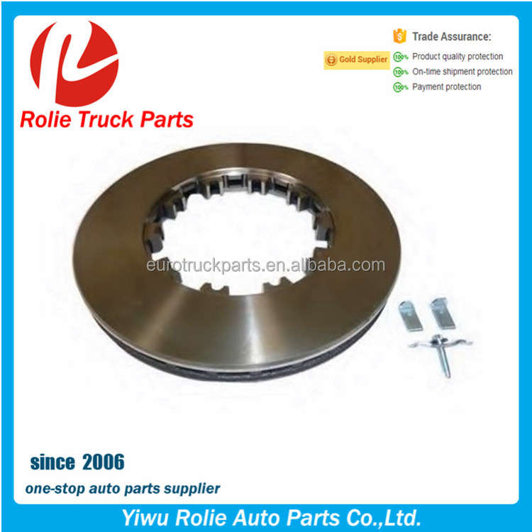 European truck auto spare parts oem 1387439 1640561 1726138 brake disc for DAF brake rotor