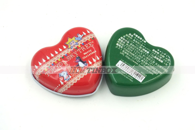 Wedding Gift Mini Heart Shape Tin Can for Candy Chocolate Jewelry