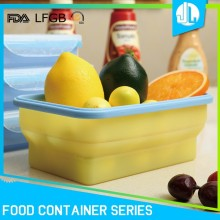 Airtight collapsible silicone preserving food waterproof container