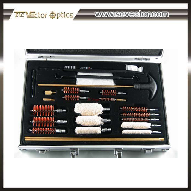 Vector Optics Universal Gun Cleaning Brush Kit With Aluminum Tool Case