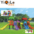 Colorful plastic slide design for children's amusement park outdoor play equipment