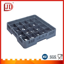 NSF Approved Plastic 20 Compartment Glass Storage Rack Drinking Glass Rack Plastic Glass Rack For Hotel or Restaurant