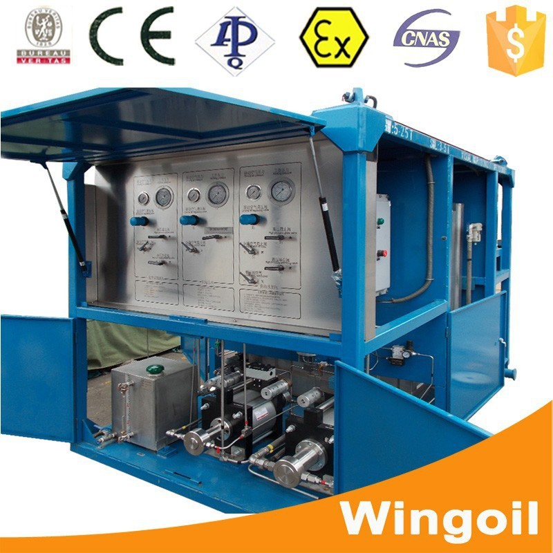 Skid Mounted Water Pump Well Equipment For Drilling Tools Test