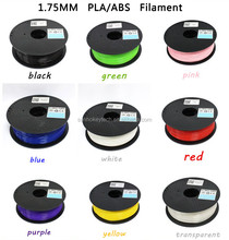 1.75mm PLA ABS Filament White/Black/Red/Blue/Golden/Yellow/Orange/Green/Pink/Purple/Brown/Grey/Silver/Transparent/Coffee brown