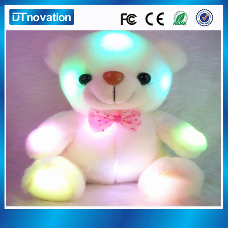 Wholesale musical teddy bear plush toys with led light effect