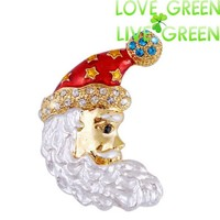 women girl christmasman tree christmas wings angel fairy fashion snowmen Santa Claus hat brooch accessories jewelry 23
