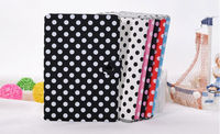 Folding Colorful polka dot wallet leather case for ipad mini