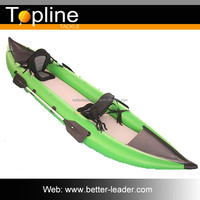 CE approved plastic kayak fishing for two person