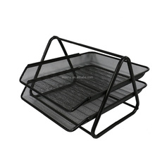 Wideny metal mesh tier stapelbaar opvouwbare desktop bureau document brief organizer bestand lade