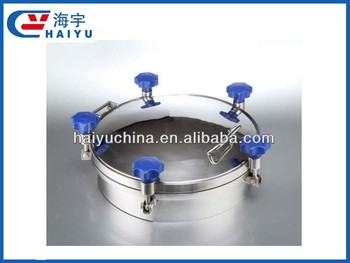 Sanitary stainless steel round manhole cover