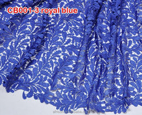 CB001-3 royal blue 2015 new African Water Soluble S Guipure lace cheap lace fabric for sale