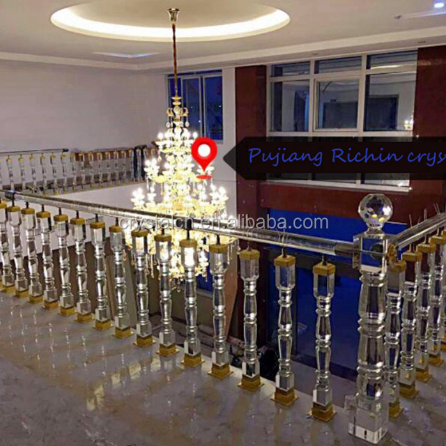 Decorative Crystal Handrail,crystal Baluster For Home Interior Stairs