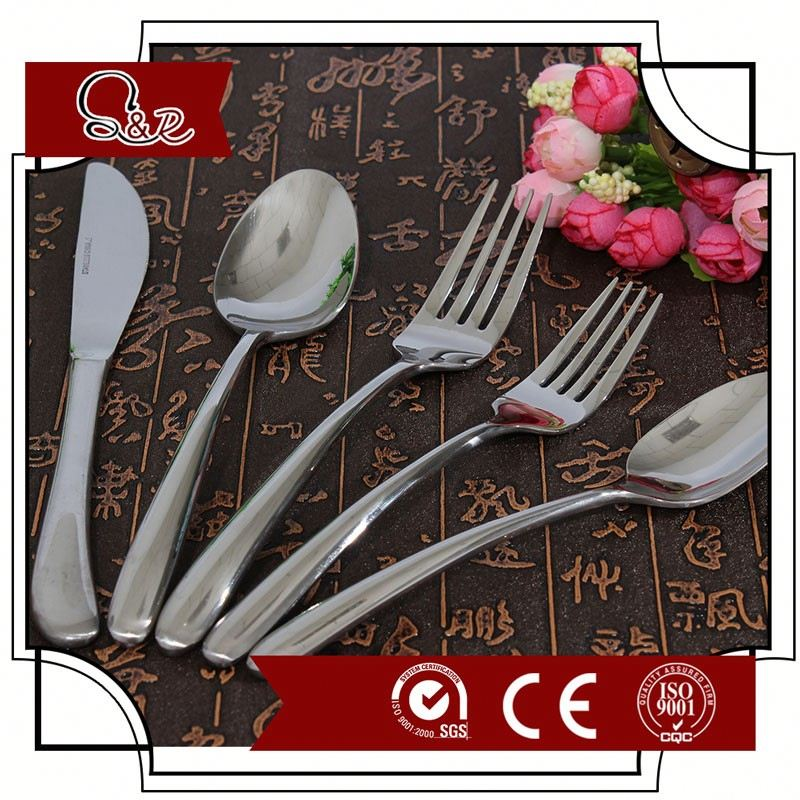New hotel used high quality stainless steel flatware set cheap butter knife